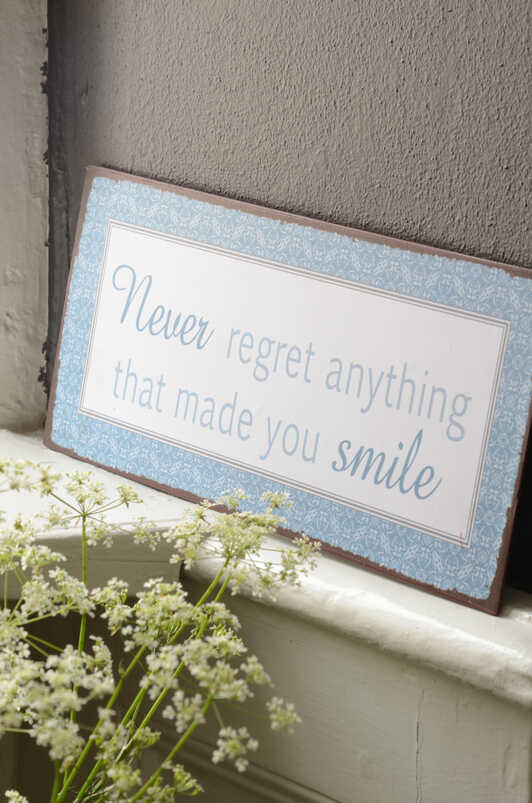 """Metalinė lentelė """"Never regret..."""""""