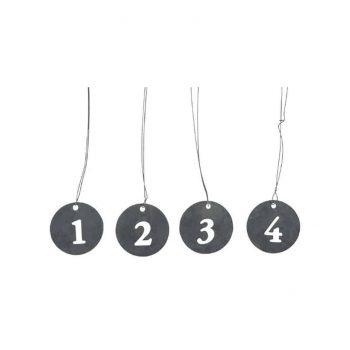 Metaliniai pakabukai su skaičiais