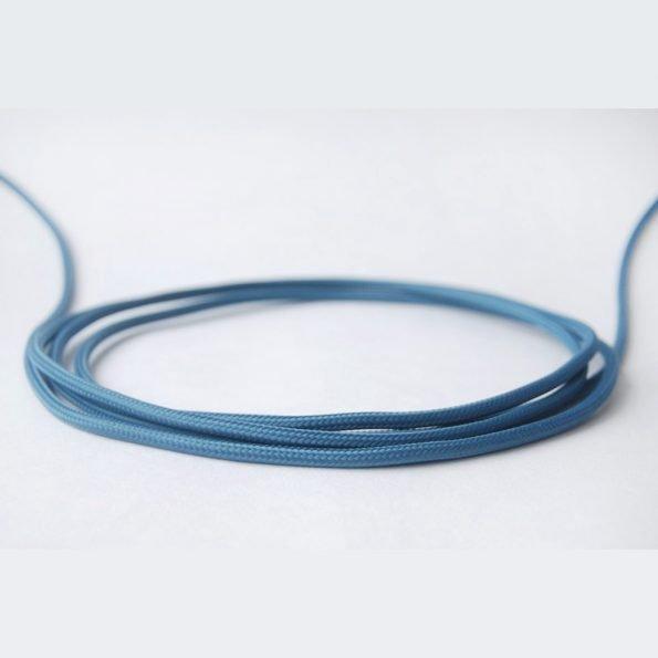 Dekoratyvus mėlynas tekstilinis laidas-1