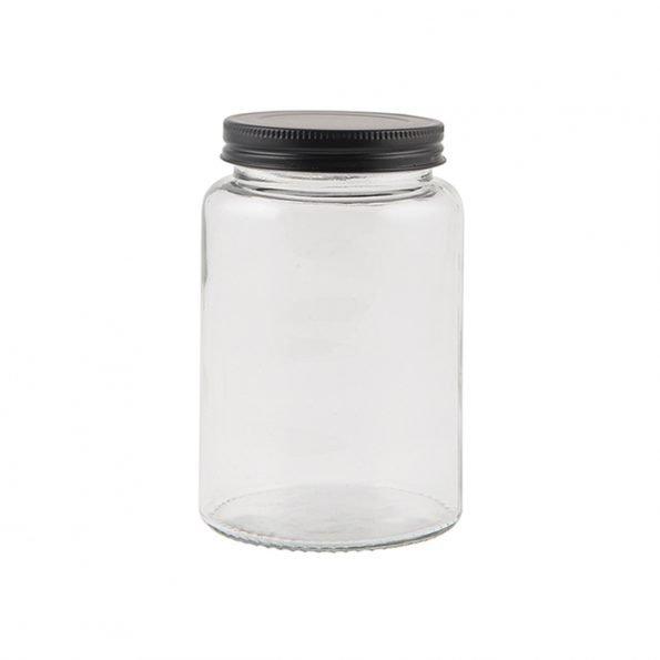 Stiklinis indelis su dangteliu 550 ml talpos