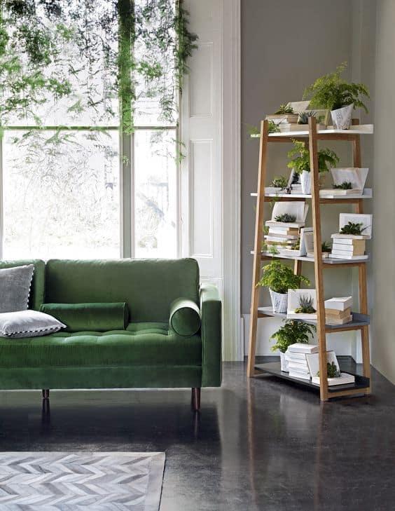 Žalia spalva interjere