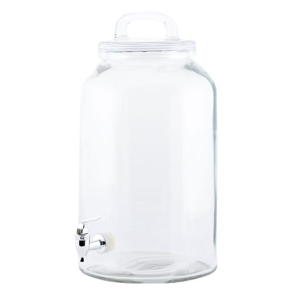 Skaidraus stiklo gėrimų indas 8.5 l