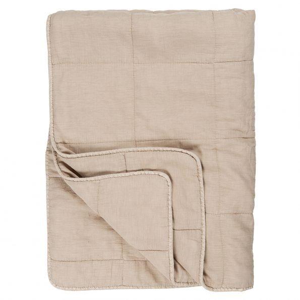 Dygsniuota antklodė smėlio spalvos