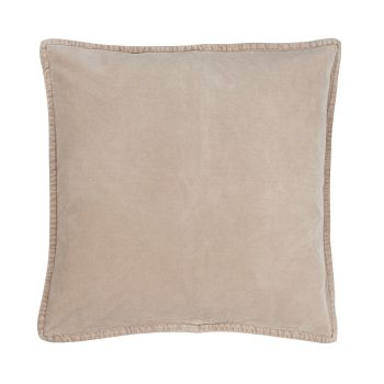 Velvetinė kreminės spalvos pagalvėlė