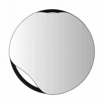 80 cm skersmens veidrodis juodu rėmu