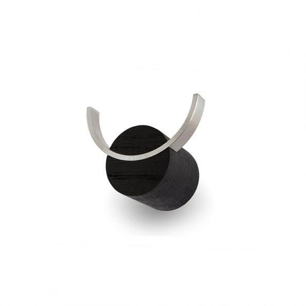 Juodos spalvos kabliukas Elnias iš šono