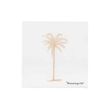 Servetėlės baltos su palme