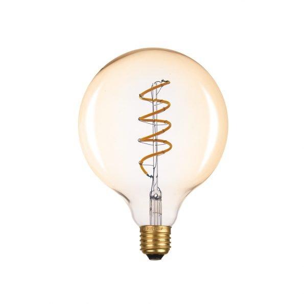 LED rusva lemputė GLOBE su spirale