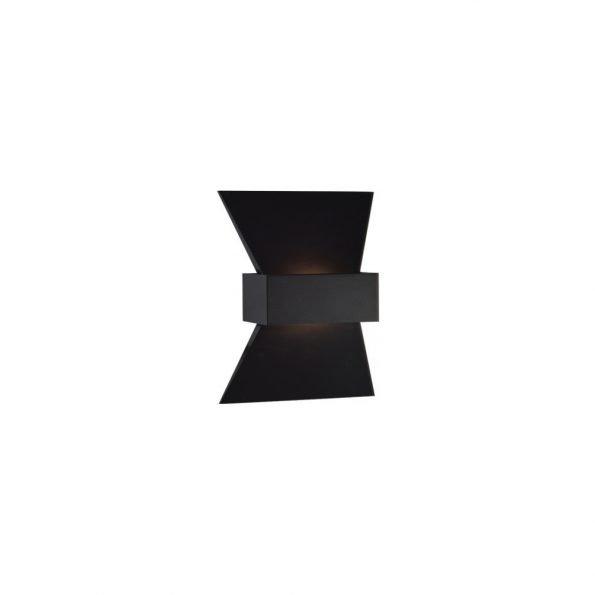 juodas metalinis sieninis šviestuvas kaspinas