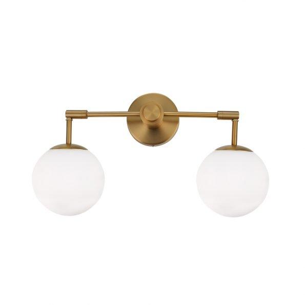 Sieninis šviestuvas su dviem gaubtais