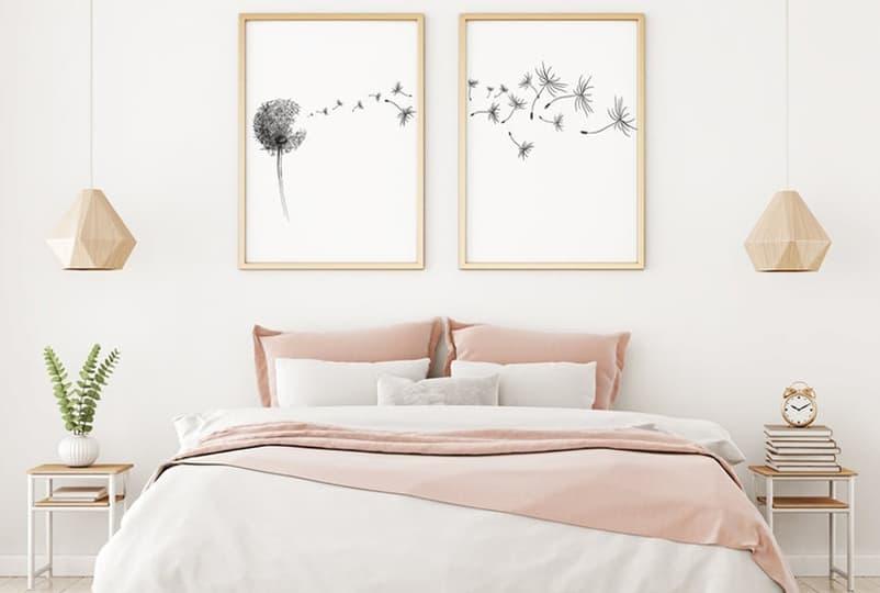 rožinis interjeras