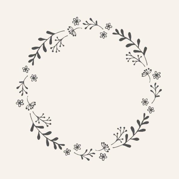 Servetėlės Flower wreath