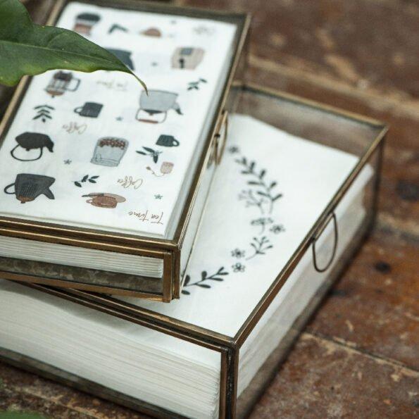 Stiklinė dėžutė Solitaire